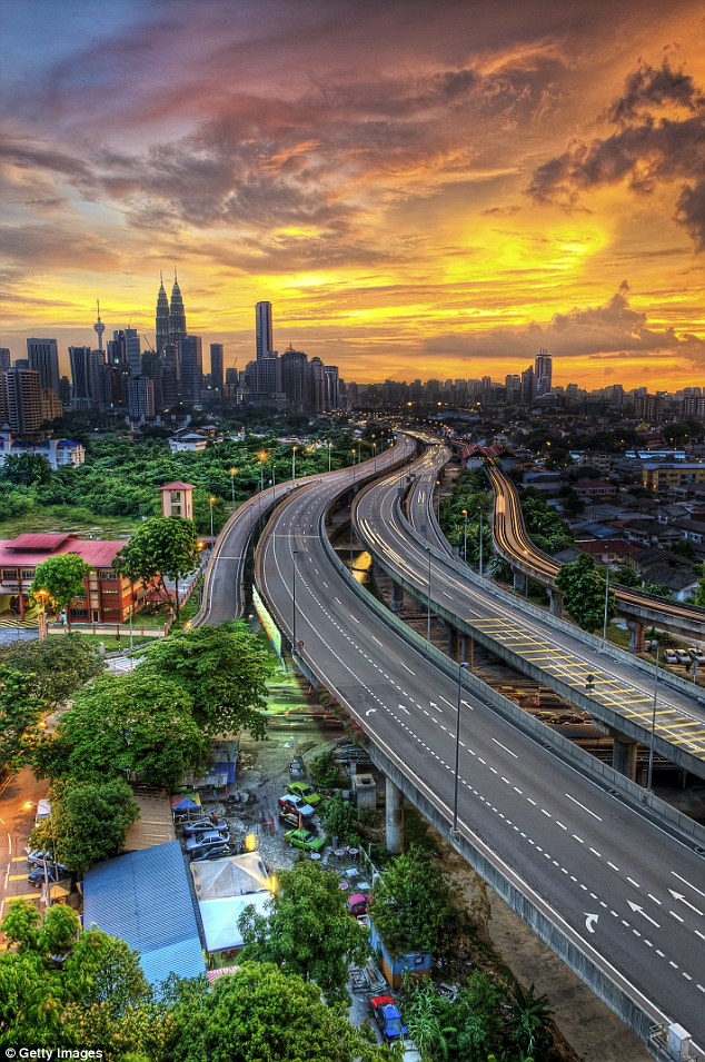 The eight-hour flight will cost $99 one way from Melbourne Airport to the Asian capital (pictured) and for those who want to travel in luxury, meals and baggage costs additional $60