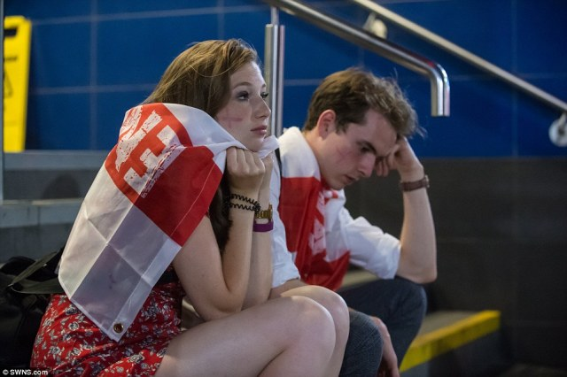 England fans were united in  their pain after Wednesday night's heartbreaking World Cup semi-final defeat to Croatia