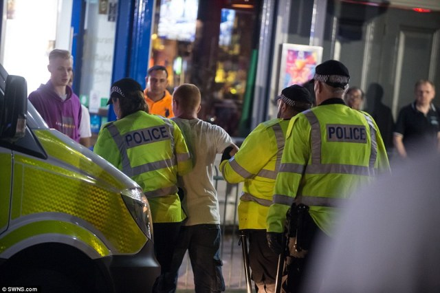 Chaos ensued as the heartache turned to fury and brawls broke out among intoxicated revellers outside pubs in Birmingham