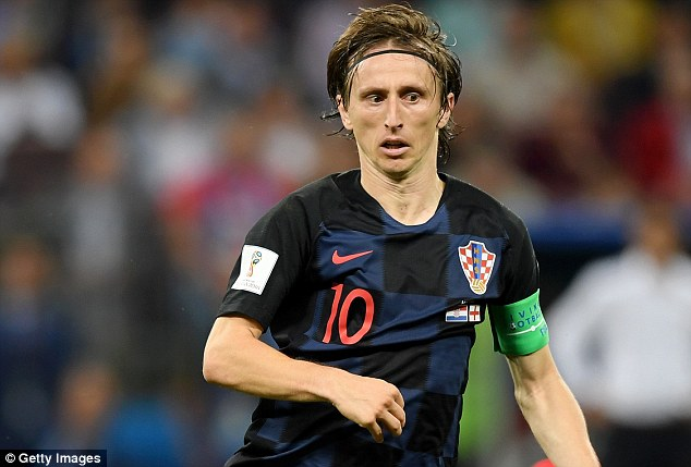 Luka Modric is also in contention as Croatia prepare to face France in Sunday's final in Moscow