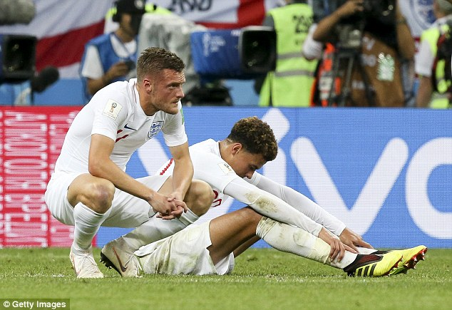 Jamie Vardy, who came on during the 2-1 defeat by Croatia, will be 33 in the summer of 2020