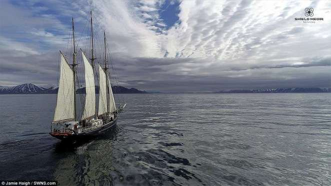 The group sailed aboard a tall ship named the Blue Clipper, spending 10 days sampling the sea, air and beaches around the isolated coasts of Svalbard