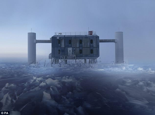 The IceCube laboratory at the South Pole – the largest neutrino observatory in the world – where scientists made the first ever detection of a high-energy neutrino