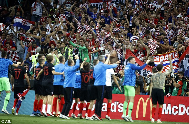 Croatia will face France in the World Cup final at Moscow's Luzhniki Stadium on Sunday