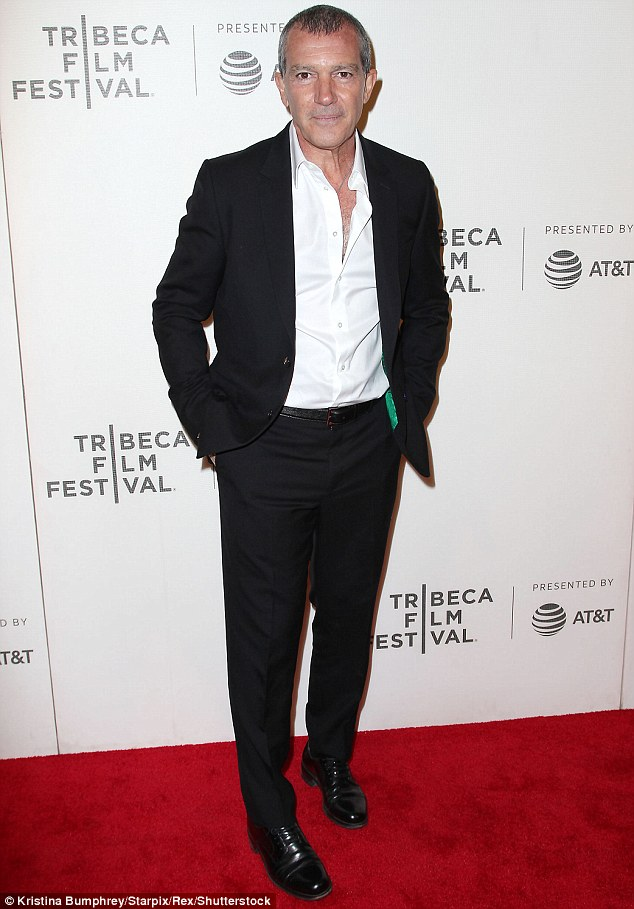 A great day for him: Antonio Banderas, seen in April, won a nomination for his portrayal of Picasso in Genius: Picasso