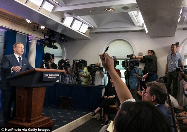 The former White House press secretary also expressed frustration at the way the press covered the Russian collusion investigation and singled out a February New York Times story that reported on alleged contacts between Trump staffers and Russian intelligence officials