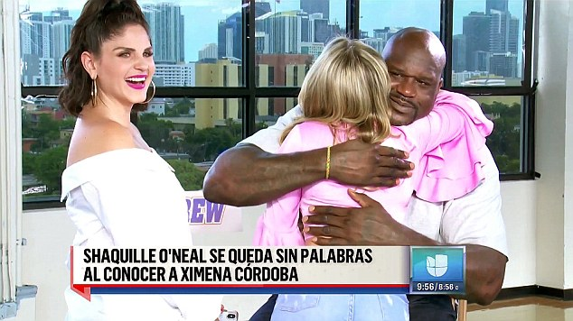 O'Neal said he would watch Univision in the mornings to see Cordoba before she went on to new ventures