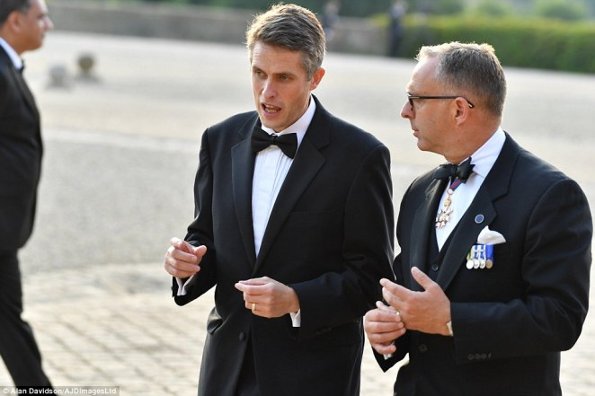 Defence Secretary Gavin Williamson arrives in a tuxedo at Blenheim Palace as President Donald Trump is given a formal welcome
