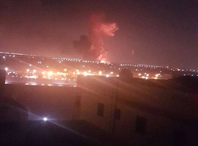 A huge explosion has reportedly been heard at Cairo Airport. The blast is believed to have been the result of two fuel storage tanks catching fire and exploding