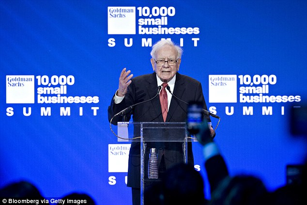 By comparison Berkshire Hathaway, a U.S-based conglomerate owned by billionaire investor Warren Buffet (pictured), has remained steady above AUD$300,000-a-share since 2016