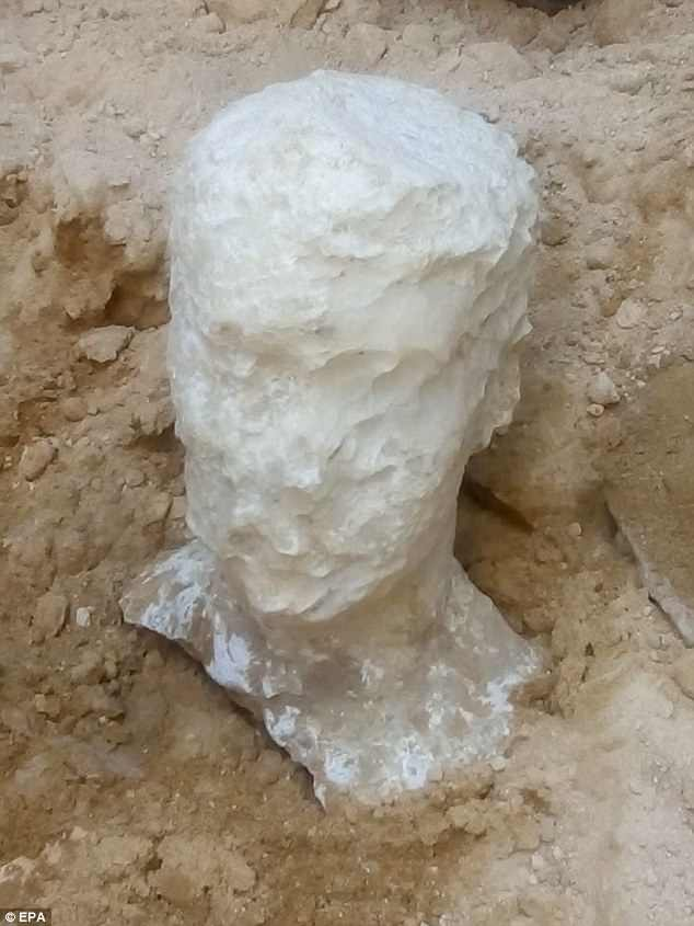 Archaeologists say it is unlikely to belong to Alexander the Great as the tomb was not grand enough and this bust leaves little in the way of clues due to erosion