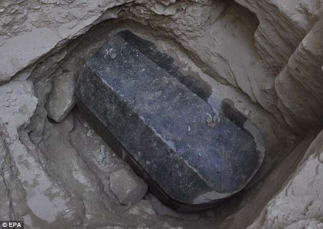 The sarcophagus (pictured) was unearthed in modern Alexandria, which is built on the city established by Alexander the Great
