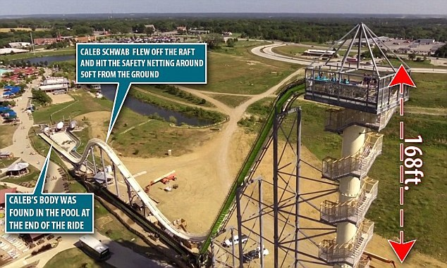 He was decapitated while riding a 17-story Verruckt waterslide, which was billed as the world's tallest