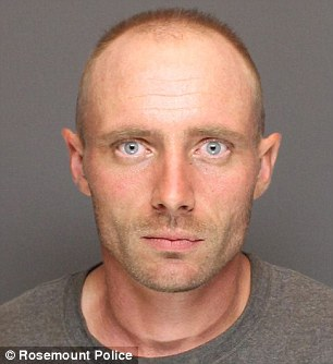 Joe Czeck, 33 (pictured), was driving the truck when the boulder slid off. He did not stop, and has been arrested