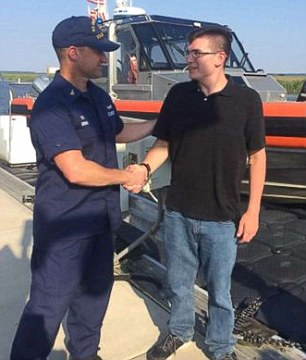 Blake Spataro (R) said he desperately tried to call for help, but no one was around to hear his pleasas he was being dragged into the ocean by a violent tide