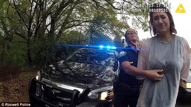 When the arrest was made, Sarah was seen crying, before breaking down in the back of the police car