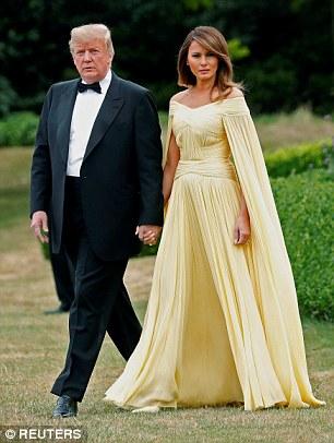 Trump and Melania in formal attire