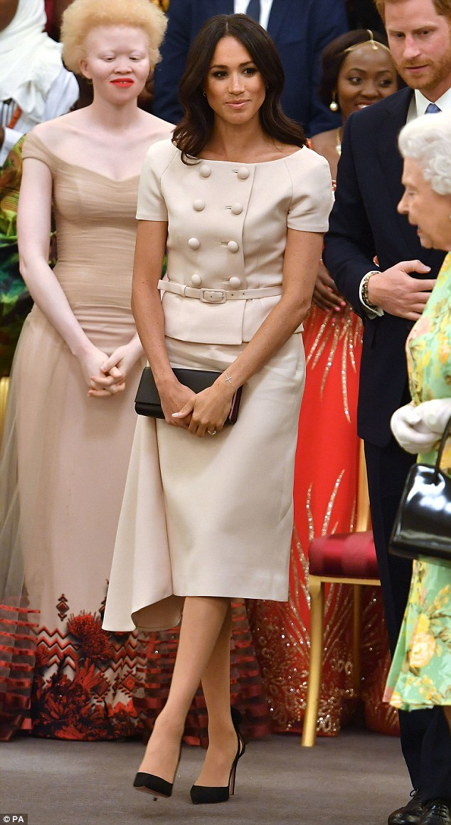 The Duchess of Sussex at the Queen's Young Leaders Awards Ceremony at Buckingham Palace