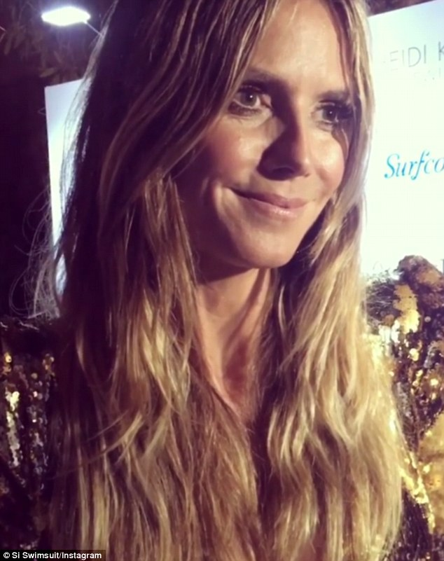 Words of wisdom: In a clip shared on SI Swimsuit's Instagram, Heidi Klum advised the women to show their personalities at the casting call