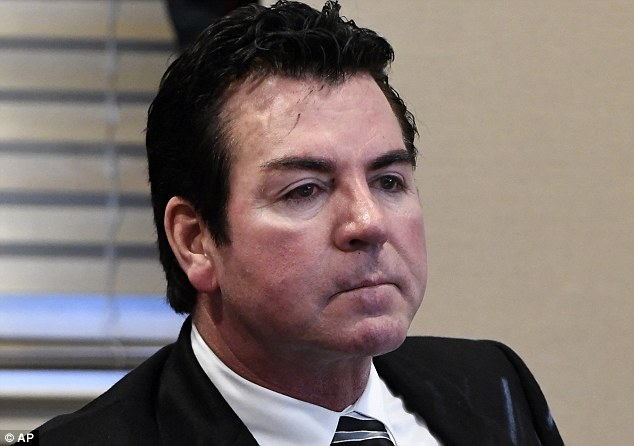 John Schnatter (pictured) on Wednesday resigned from the company as chairman of the board after he used a racial slur on a conference call