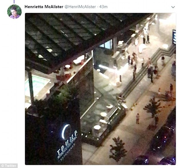 """One witness reported seeing """"more than 1,000 people outside""""."""