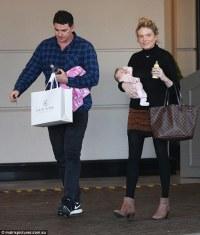 Erin Molan carries adorable newborn daughter Eliza in ...