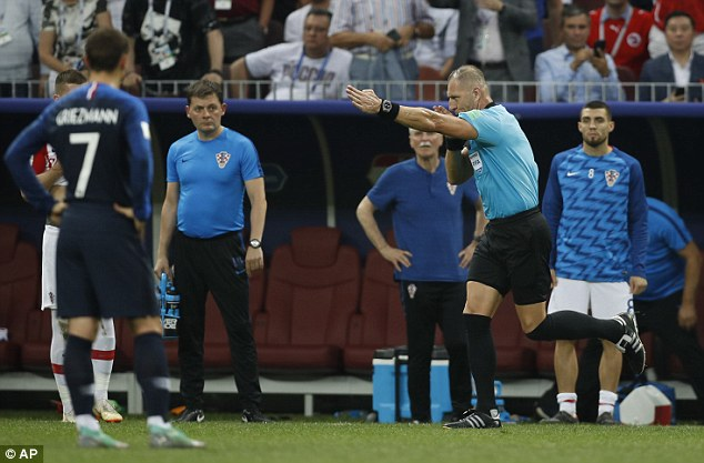 And after viewing it, Pitana overturned his decision and pointed to the  spot to Croatia's angst