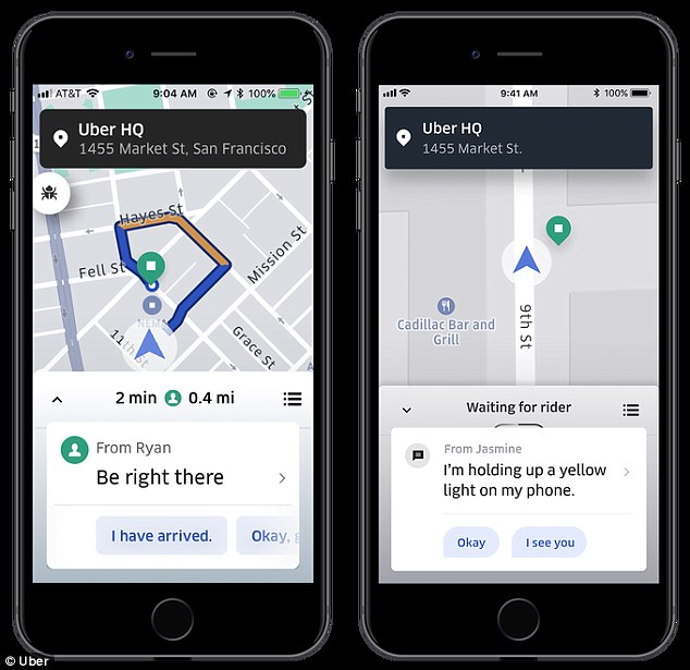 The firm is building on its in-app messaging tool by giving riders the option to send pre-written messages. Messages are read aloud to the driver so that they're not distracted from the road