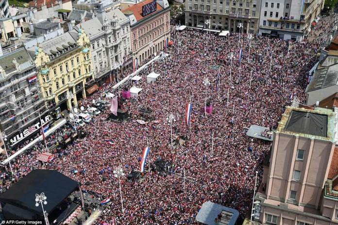 The crowd gathered was estimated at 100,000 people earlier today