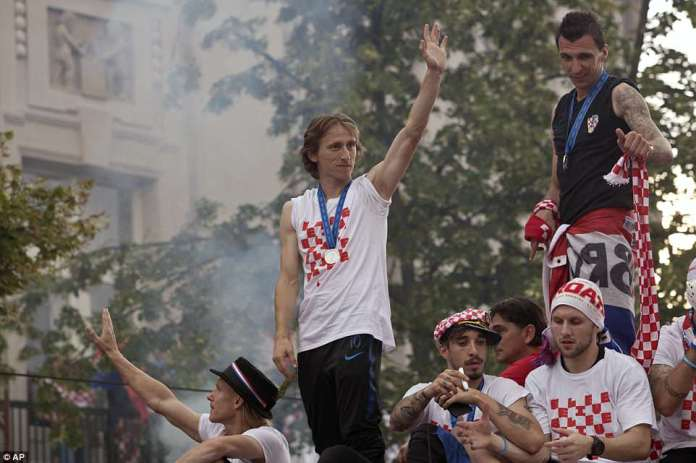 Team captain Luka Modrić said: 'I think we were the better team but sometimes better teams don't win'