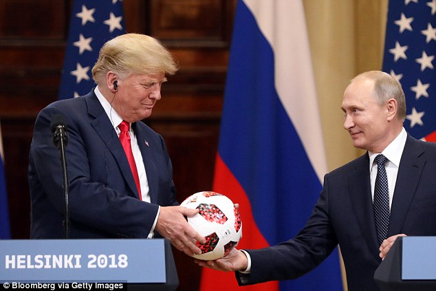 His comments came in the wake of President Trump's joint press conference with Vladimir Putin on Monday in Helsinki (President Trump and Putin last Monday above)