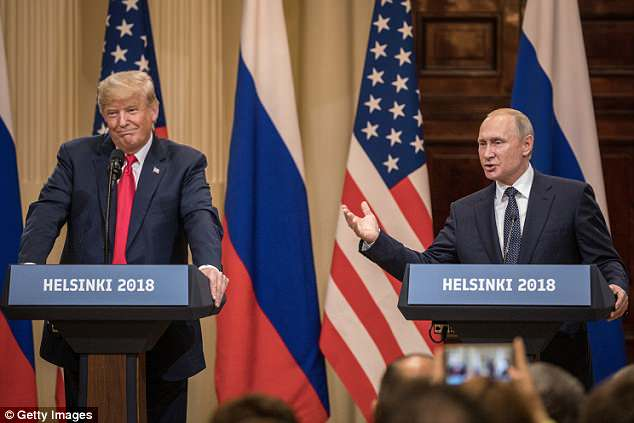 ] President Trump and his administration remain engulfed in politics. firestorm who attended a joint press conference with Putin in Helsinki, Finland
