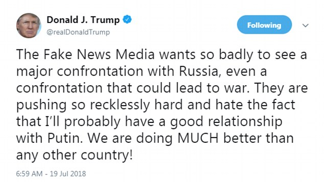 He accused the media of wanting war with Russia
