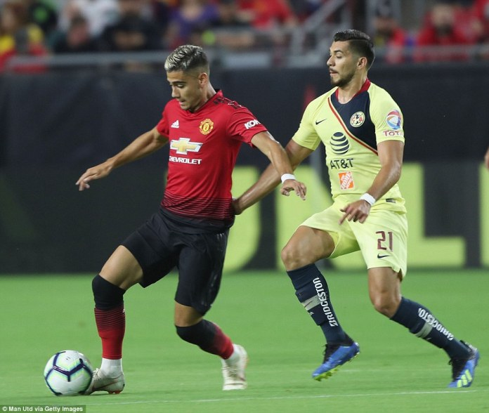 Andreas Pereira was trying to impress the watching Mourinho after spending last season on loan at La Liga side Valencia