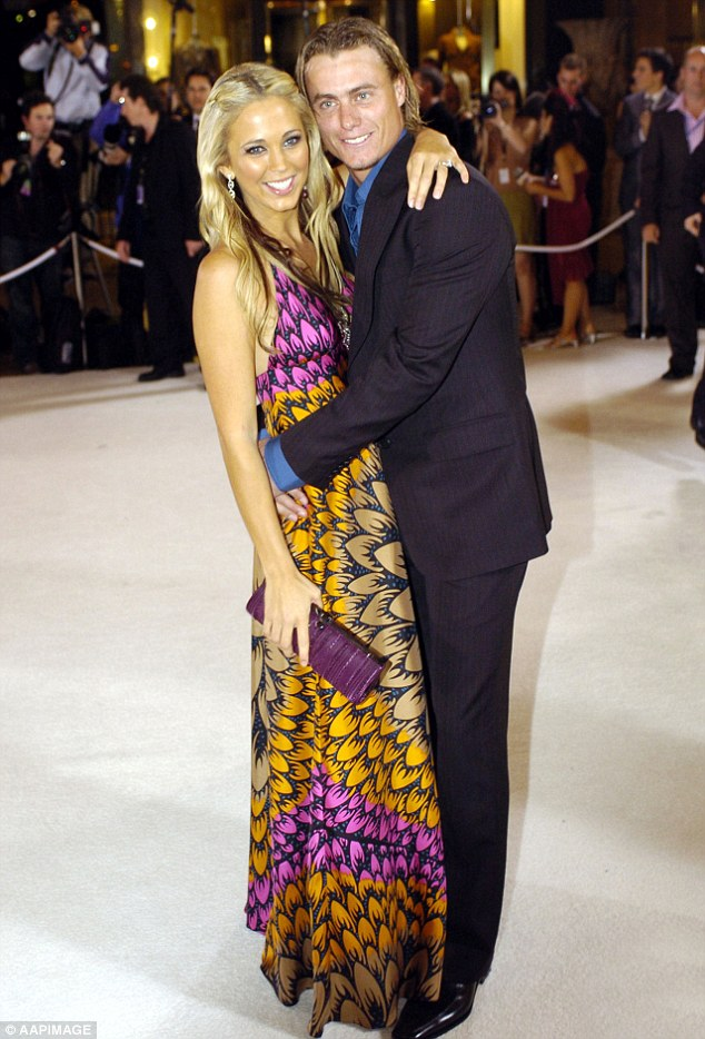 Love story: Tennis champion Lleyton proposed to Bec just six weeks after they started dating. Pictured: The couple, in May 2005