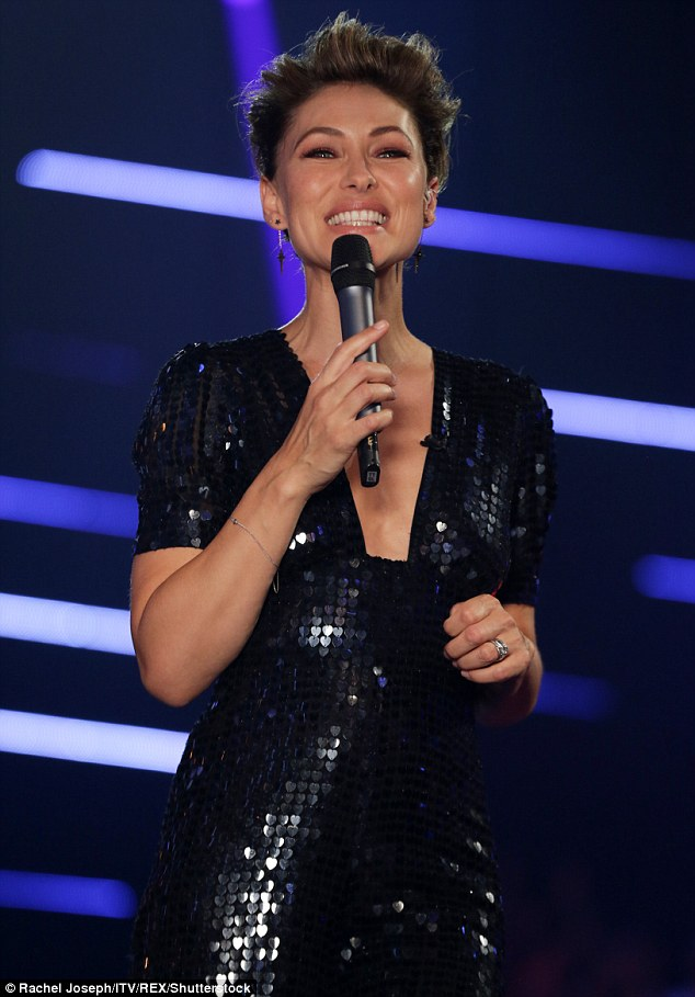 Real Professional: Emma Willis did not disappoint as she presented a sensational show at the finale of The Voice Kids on Saturday