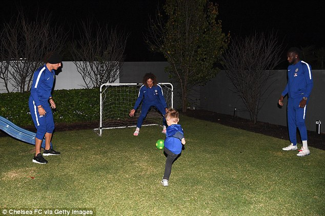 McCarthy even got to play football with the Chelsea stars in his back garden