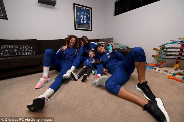 The visit occurred after the youngster invited Chelsea to his house for a barbecue