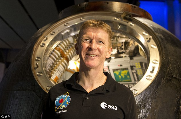 'Mars is a fascinating destination, a place where humans will one day work alongside robots to gather new knowledge and search for life in our Solar System,' said Peake (pictured)