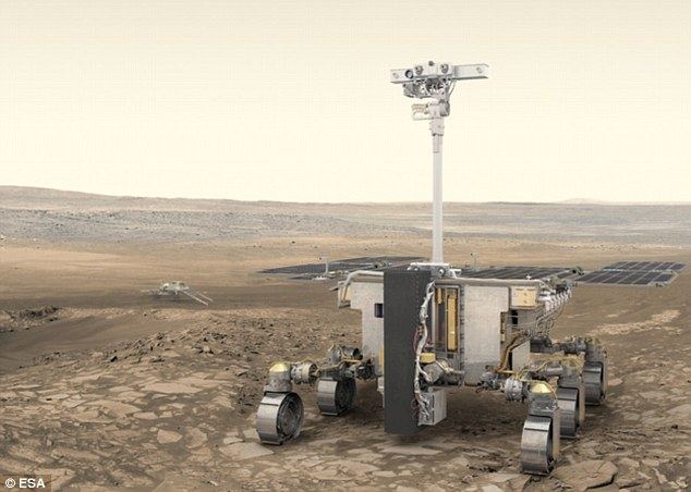 Astronaut Tim Peake has launched a competition to name the British-built Mars rover (pictured, artist's impression) - and 'Rover McRoverface' is already in the running