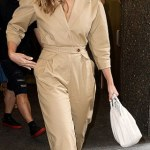 Jessica Alba's stylish Jumpsuit in New York