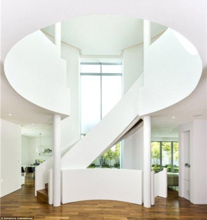 Impressive features: There is a unique staircase rising from the garden level to the first floor