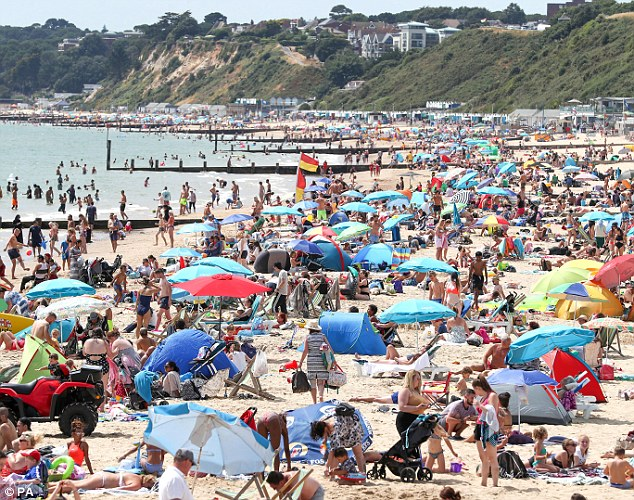 Time for a drink: Britain's heatwave has left people craving an iced-cold drink