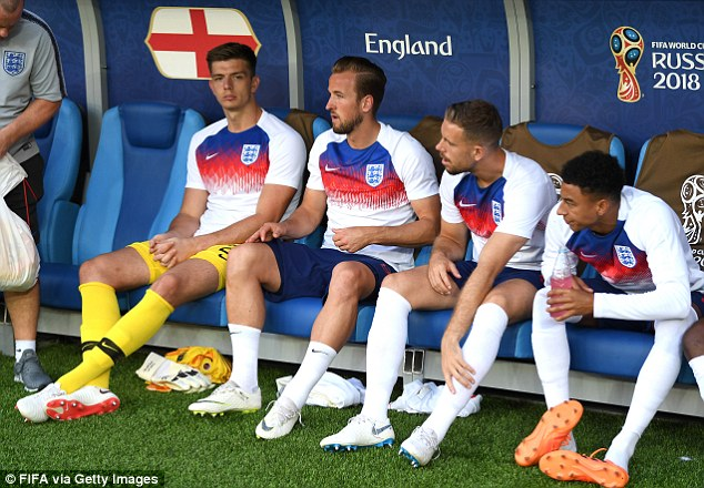 NickPopedidn't feature in the World Cup but he was training with the Three Lions in Russia