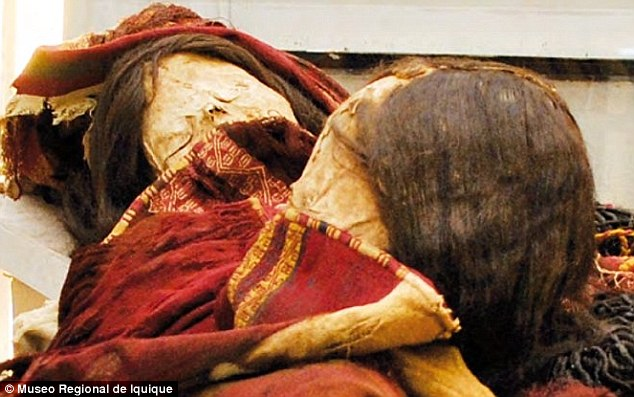 The foul fates that have befallen archaeologists who desecrate a mummy's tomb are the stuff of legend. But in the case of a recent find in Chile there may be more than scare stories at work, after experts uncovered two embalmed bodies clothed in poison-laced dresses (pictured)