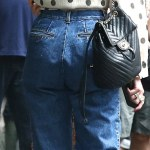 Dua Lipa don unflattering Jeans in New York City