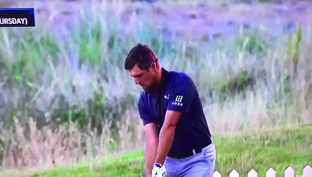 Bryson DeChambeau had a theatrical meltdown on the driving range during The Open