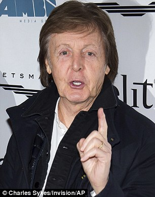 Sir Paul McCartney (pictured) has long claimed that he penned the classic tune, telling the music writer and broadcaster Paul Gambaccini in the 1970s: 'Those were the words John wrote, and I wrote the tune to it. That was a great one'
