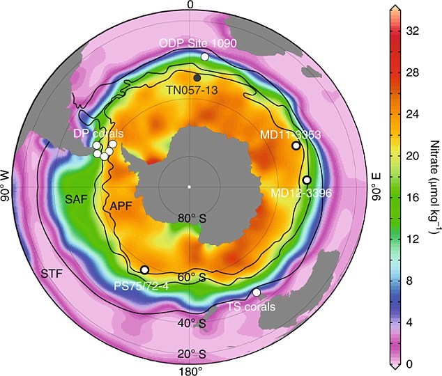Researchers extracted trace amounts of nitrogen from fossils to create a model for the activity of the Southern Ocean during the Holocene, a period that began about 11,000 years ago. They found increased nutrient supply to the Southern Ocean during the Holocene