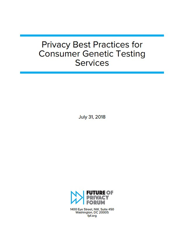 The guidelines, titled Privacy Best Practices for Consumer Genetic Testing Services and released on Tuesday, deal with scenarios where users' personally identifiable and anonymous genetic information might be shared with law enforcement and other third parties
